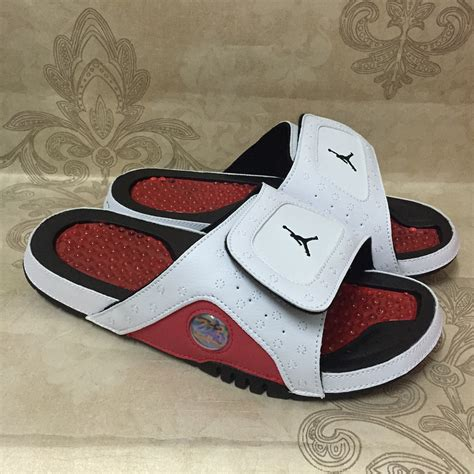 Air Jordan Hydro 13 XIII Sandal Slide White/Red